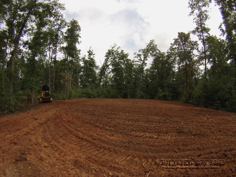 clearing land for barn pad